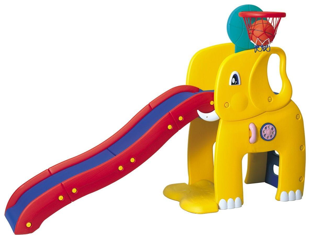 Горка HAENIM Toy Слон (с баскетбольным кольцом)