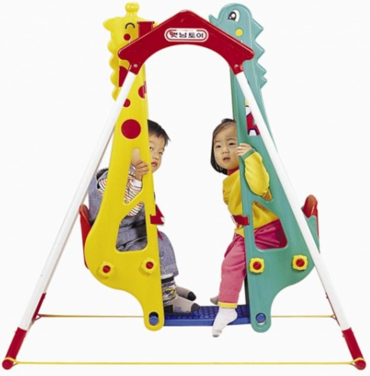 Качели Haenim Toy Жираф-Дракон (для двоих детей)