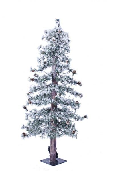Купить Искусственная пихта с шишками Crystal Trees Токио стройная заснеженная - 120 см (с гирляндой) в интернет магазине игрушек и детских товаров