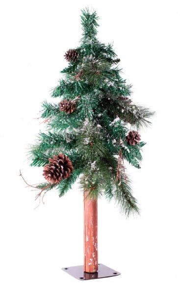 Купить Искусственная сосна с шишками Crystal Trees Акита стройная заснеженная - 120 см в интернет магазине игрушек и детских товаров