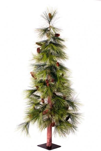 Искусственный японский кедр с длинной хвоей и шишками Crystal Trees Суги - 180 см
