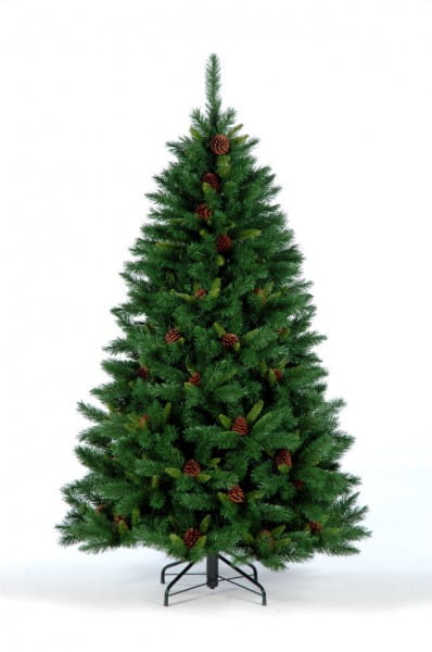 Купить Ель с шишками Crystal Trees Европейская - 210 см в интернет магазине игрушек и детских товаров