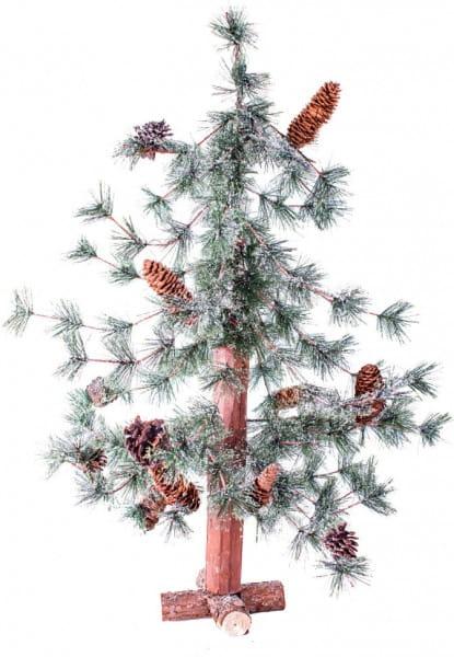 Купить Искусственная пихта с маленькими шишками Crystal Trees Киото заснеженная - 90 см в интернет магазине игрушек и детских товаров