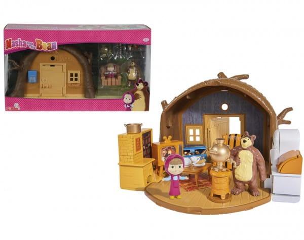 Купить Игровой набор Маша и Медведь Домик Миши с аксессуарами и фигуркой Миши (Simba) в интернет магазине игрушек и детских товаров