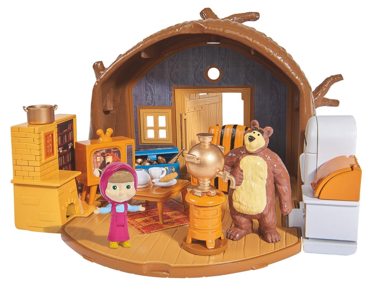 Игровой набор Маша и Медведь Домик Миши с аксессуарами и фигуркой Миши (SIMBA) - Маша и медведь
