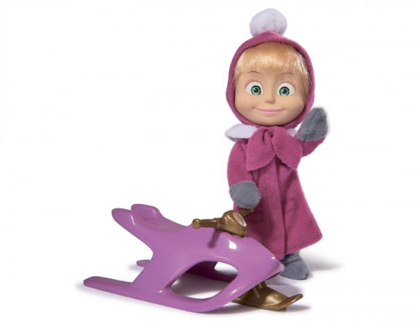 Игровой набор Маша и Медведь Маша со снегокатом (Simba)