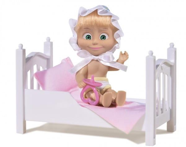 Игровой набор Маша и Медведь Маша с кроваткой (Simba)