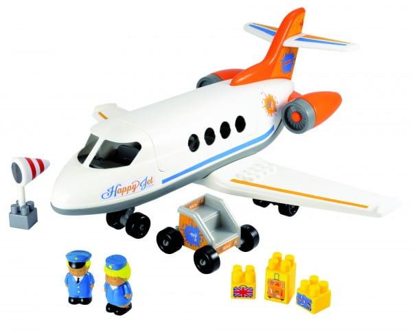 Конструктор Abrick Реактивный самолет - 30 деталей (Ecoiffier)