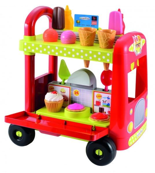Купить Тележка-магазин Ecoiffier Мороженое в интернет магазине игрушек и детских товаров