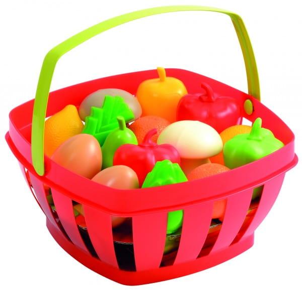 Купить Корзинка с продуктами Ecoiffier в интернет магазине игрушек и детских товаров