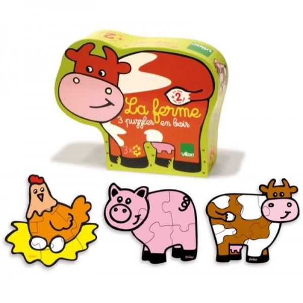 Купить Набор из 3 пазлов Vilac Домашние животные (5 элементов) в интернет магазине игрушек и детских товаров