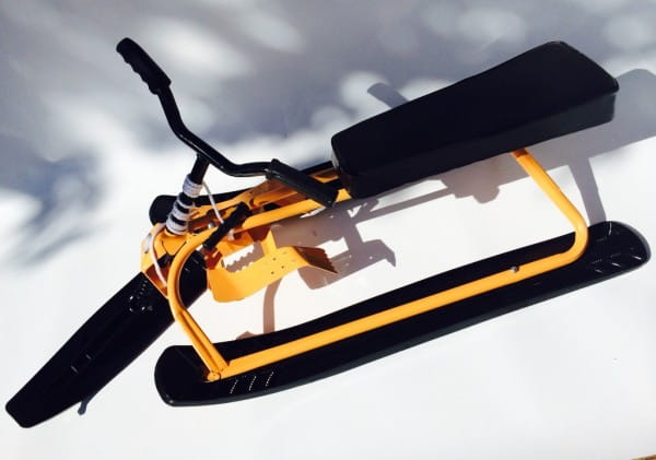 Купить Снегокат River Toys - желтый в интернет магазине игрушек и детских товаров