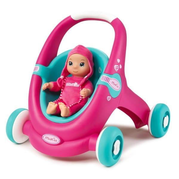 Купить Коляска-каталка для кукол MiniKiss Baby (Smoby) в интернет магазине игрушек и детских товаров