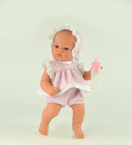 Кукла-пупс со звуком Asi Коки - 36 см (в костюме с розовыми цветочками)