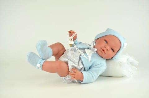 Кукла-пупс Asi Пабло - 45 см (в голубом боди в мелкий цветочек)