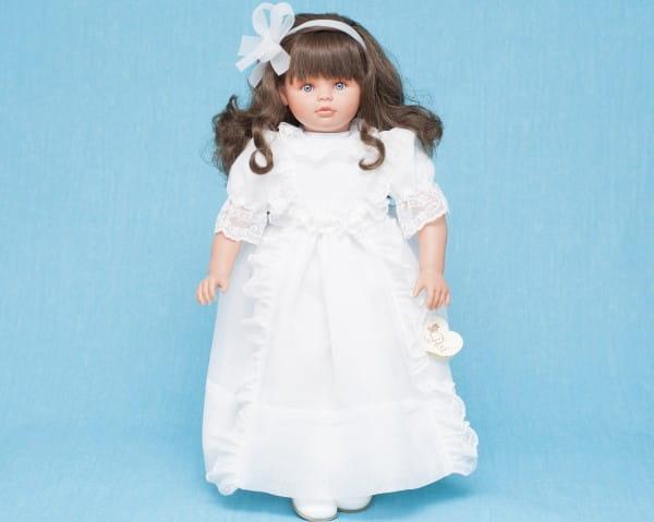 Купить Кукла Asi Пепа со темными волосами - 60 см (в белоснежном платье) в интернет магазине игрушек и детских товаров