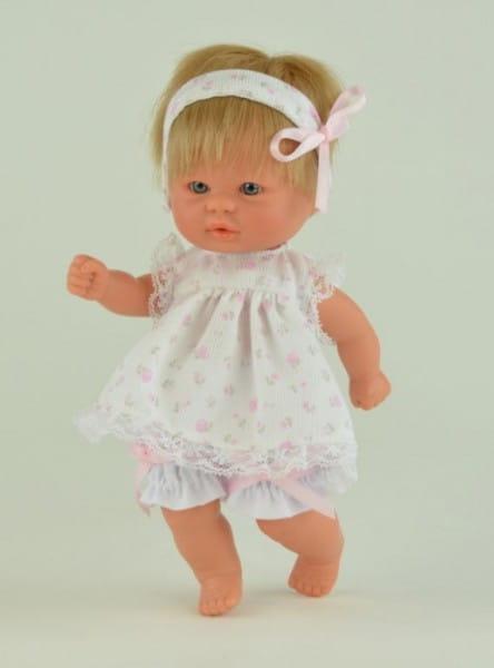Кукла-пупс Mama Ciguena Peque Asi - 20 см (в сарафане в горошек)