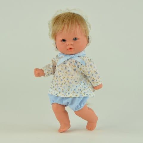 Купить Кукла-пупс Mama Ciguena Peque Asi - 20 см (в голубых панталонах) в интернет магазине игрушек и детских товаров