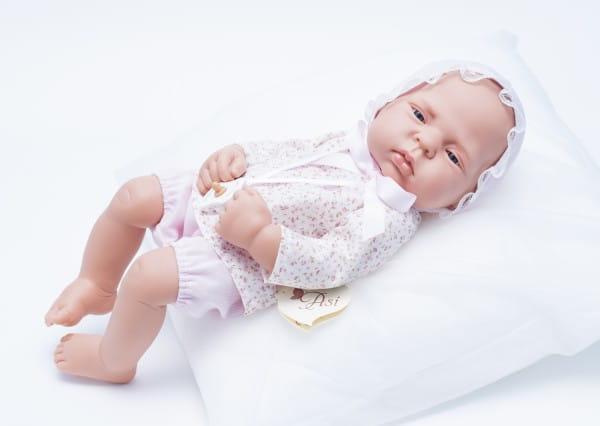 Кукла-пупс Mama Ciguena Lulu Asi - 40 см (в розовом костюме в цветочек)