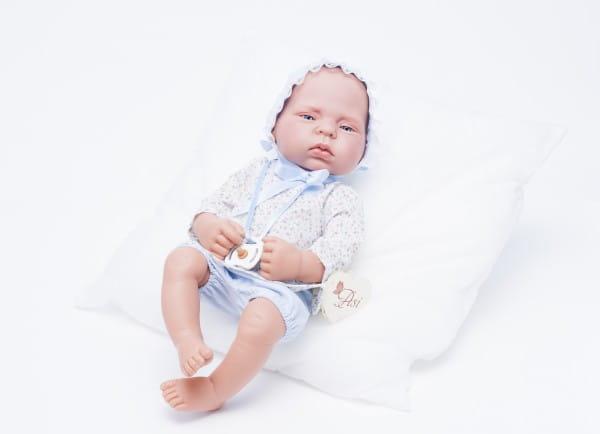 Кукла-пупс Mama Ciguena Lulu Asi - 40 см (в голубом костюме)