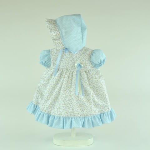 Купить Одежда для кукол Asi Платье в цветочек и шапочка на завязках - 50 см в интернет магазине игрушек и детских товаров