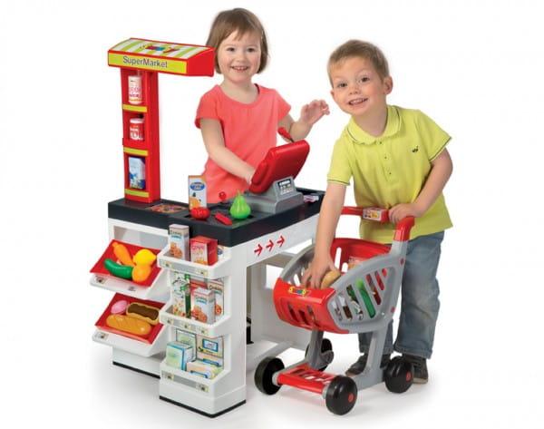 Купить Супермаркет с тележкой - белый (Smoby) в интернет магазине игрушек и детских товаров