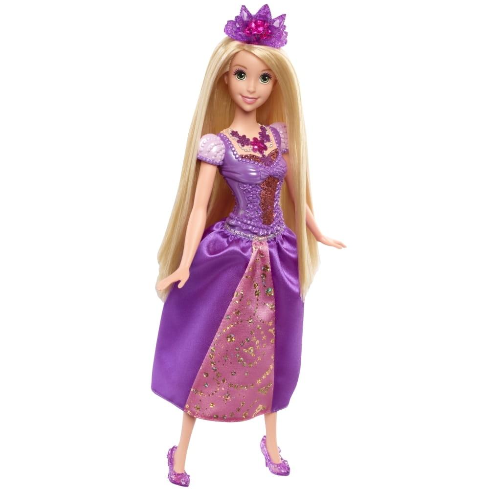 Кукла со световыми эффектами DISNEY PRINCESS Ослепительные принцессы - Рапунцель (Mattel)