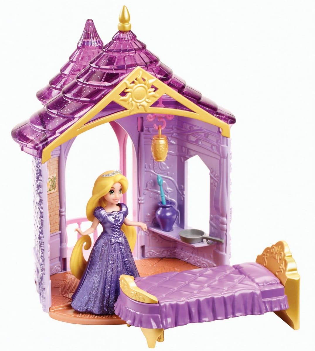 Игровой набор Disney Princess BDJ97 Комната Принцессы Рапунцель с аксессуарами (Mattel)