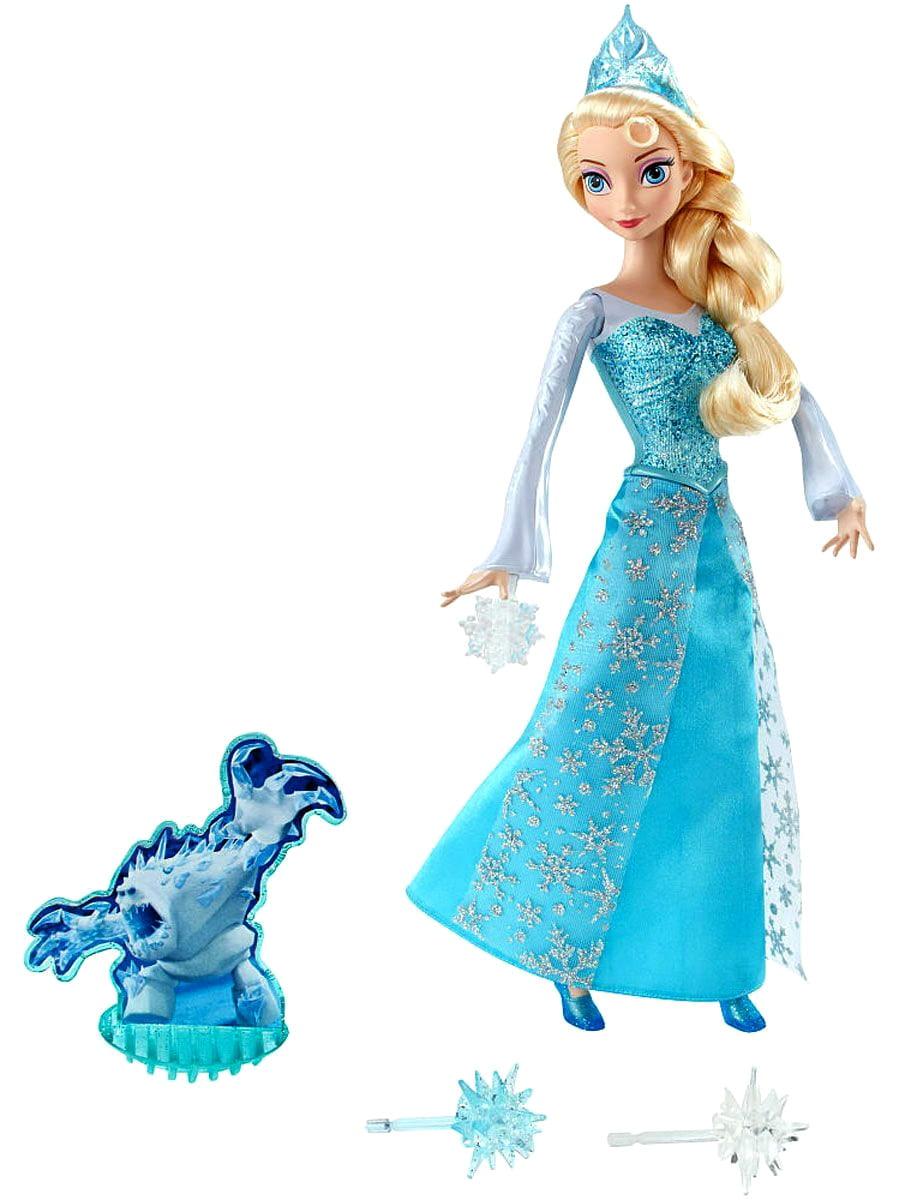 Кукла Disney Princess CGH15 Холодное сердце Эльза с тремя снежинками и Зефиркой (Mattel)