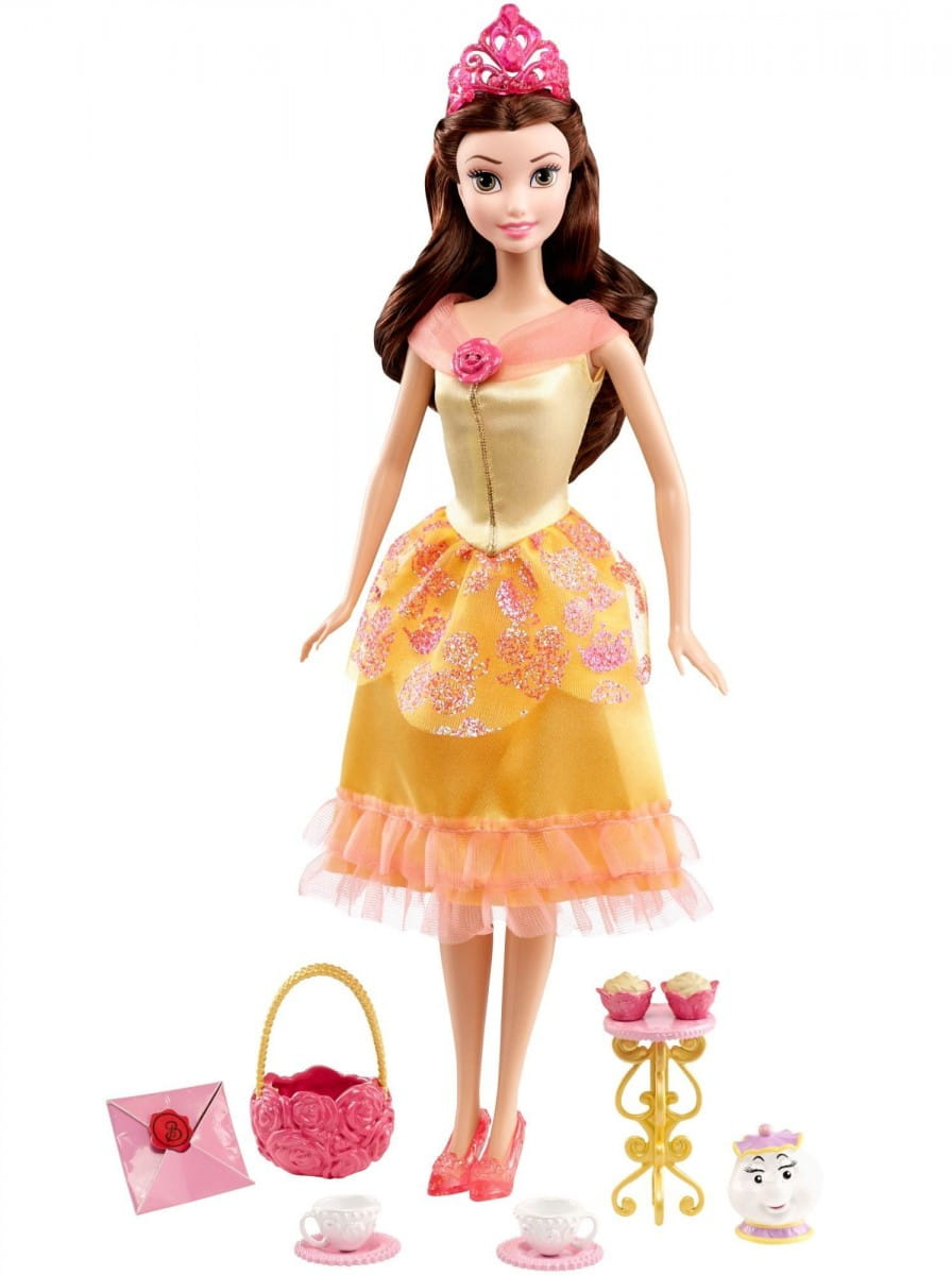 Кукла Disney Princess Принцесса Диснея Белль с аксессуарами (Mattel)