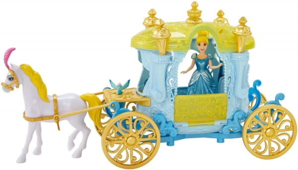 Игровой набор Disney Princess Золушка с каретой и лошадью (Mattel)