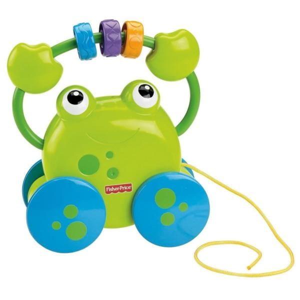 Купить Каталка Fisher Price Лягушонок Забавные звуки (Mattel) в интернет магазине игрушек и детских товаров