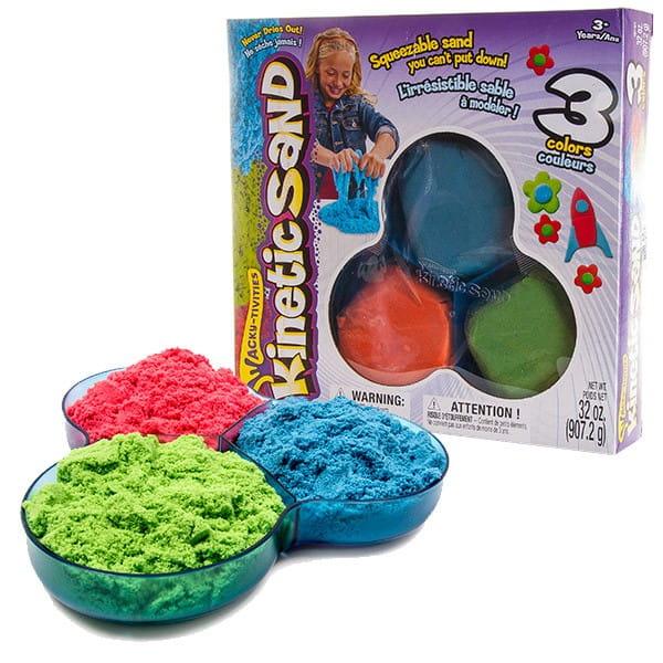 Песок для лепки Kinetic Sand 71403 - 3 цвета (907 грамм)