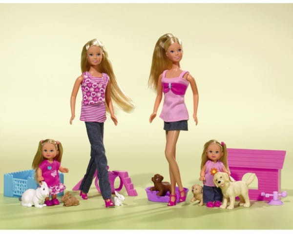 Игровой набор Steffi Кукла Штеффи и Еви со зверятами (Simba)
