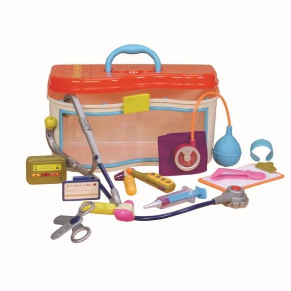 Купить Игровой набор B Dot Чемоданчик медицинский (с оранжевой крышкой) в интернет магазине игрушек и детских товаров