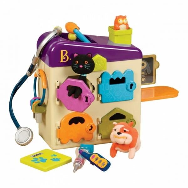 Игровой набор B Dot Чемоданчик ветеринарный (с фиолетовой крышкой)