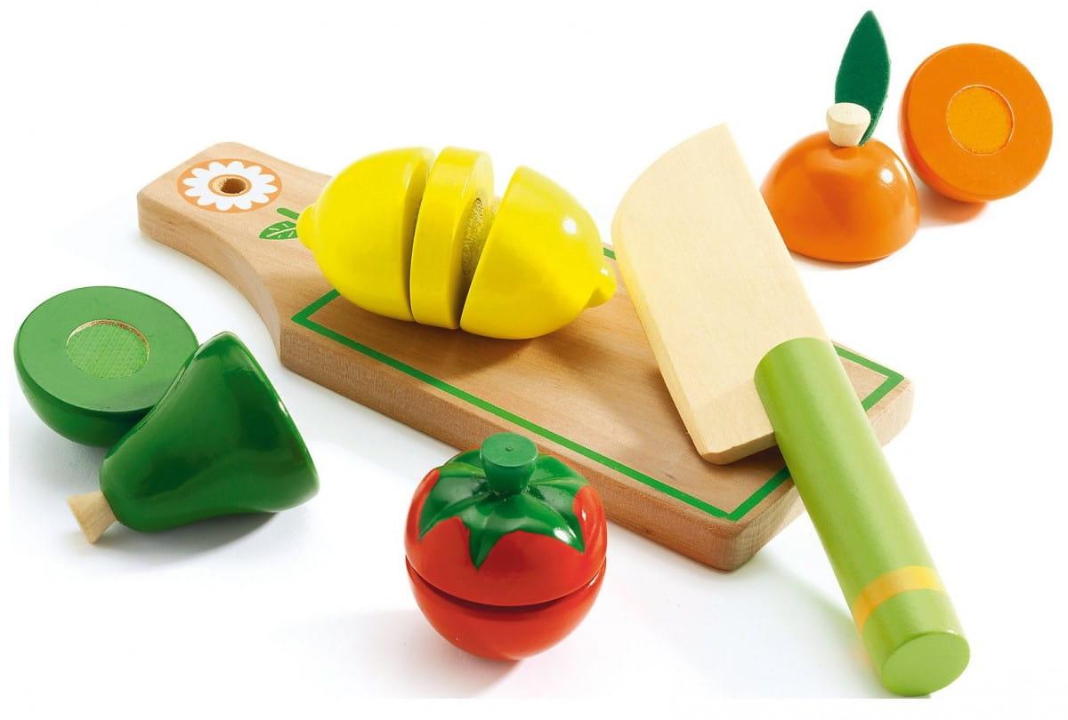 Игровой набор для разрезания Djeco 06526 Фрукты и овощи