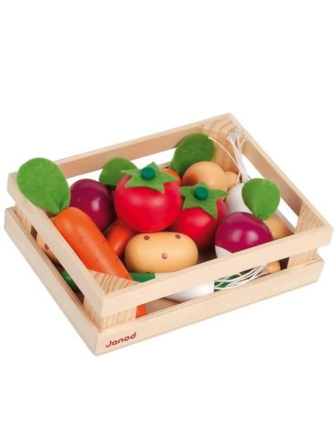 Купить Набор овощей Janod в ящике - 12 элементов в интернет магазине игрушек и детских товаров