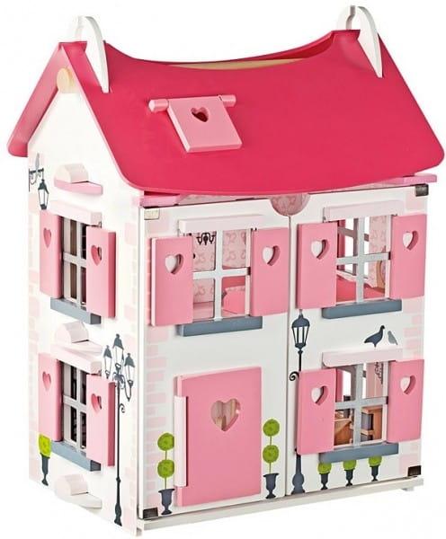 Кукольный домик с мебелью и куклами Janod Мадмуазель