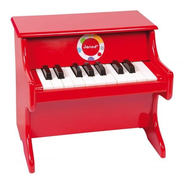 Купить Деревянное пианино Janod - красное в интернет магазине игрушек и детских товаров