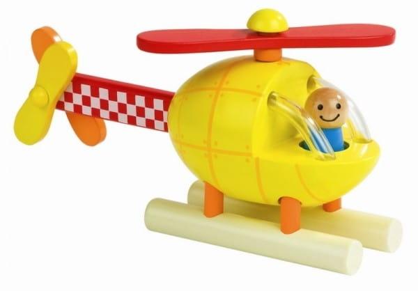 Купить Деревянный магнитный конструктор Janod Вертолет в интернет магазине игрушек и детских товаров