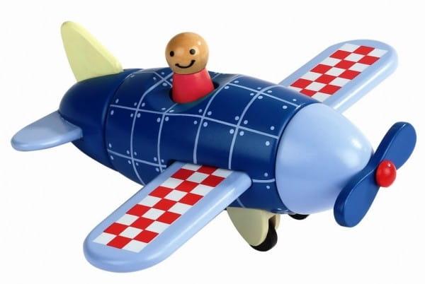 Купить Деревянный магнитный конструктор Janod Самолет в интернет магазине игрушек и детских товаров