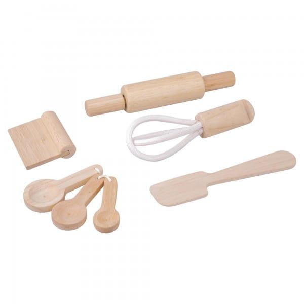 Купить Деревянный игрушечный набор Plan Toys Кулинарные принадлежности в интернет магазине игрушек и детских товаров