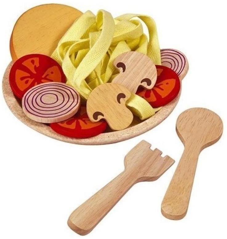 Деревянный игрушечный набор Plan Toys k3466 Спагетти с овощами