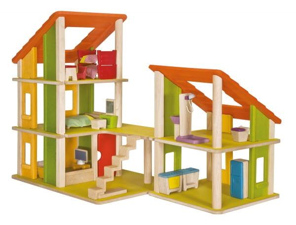 Кукольный домик с мебелью PLAN TOYS Шале