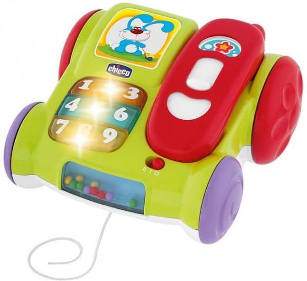 Купить Музыкальный телефон Chicco с колесиками в интернет магазине игрушек и детских товаров