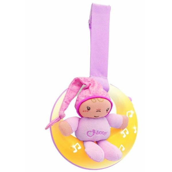 Музыкальная подвеска для кроватки Chicco 24261 Спокойной ночи, луна - розовая