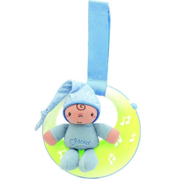 Музыкальная подвеска для кроватки Chicco 24262 Спокойной ночи, луна - голубая
