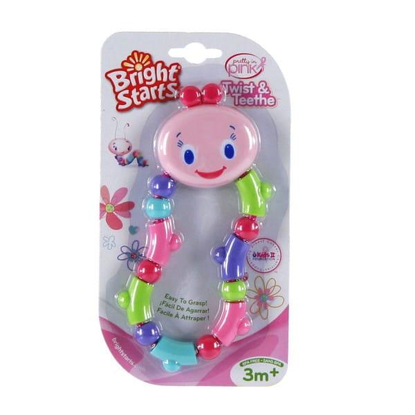 Развивающая игрушка-прорезыватель Bright Starts Гусеничка - розовая