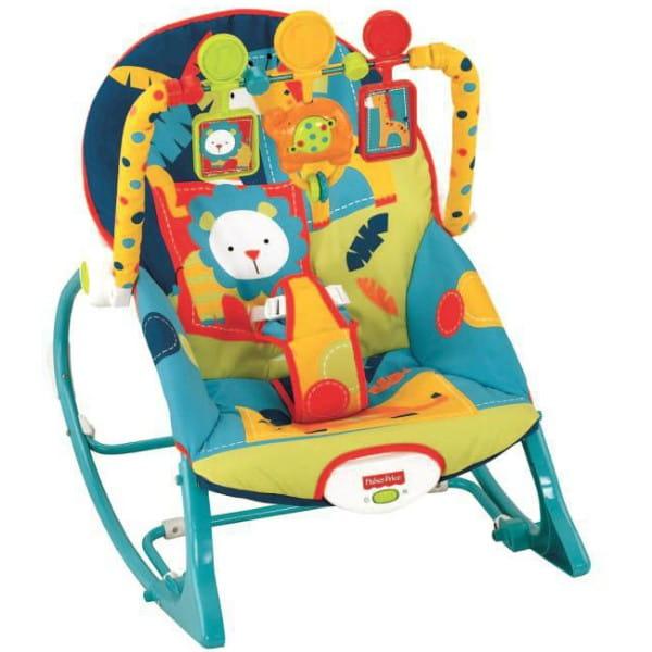 Купить Кресло-качалка Fisher Price Сафари (Mattel) в интернет магазине игрушек и детских товаров